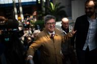 Jean-Luc Mélenchon à la sortie du tribunal correctionnel de Bobigny, le20septembre.