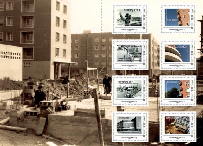 Collector timbré sur la reconstruction de Dunkerque émis par le Club philatélique dunkerquois à l'occasion des Journées européennes du patrimoine, fin septembre.
