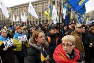 Manifestation de soutien au président Volodymyr Zelensky, à Kiev, le 8 décembre 2019.