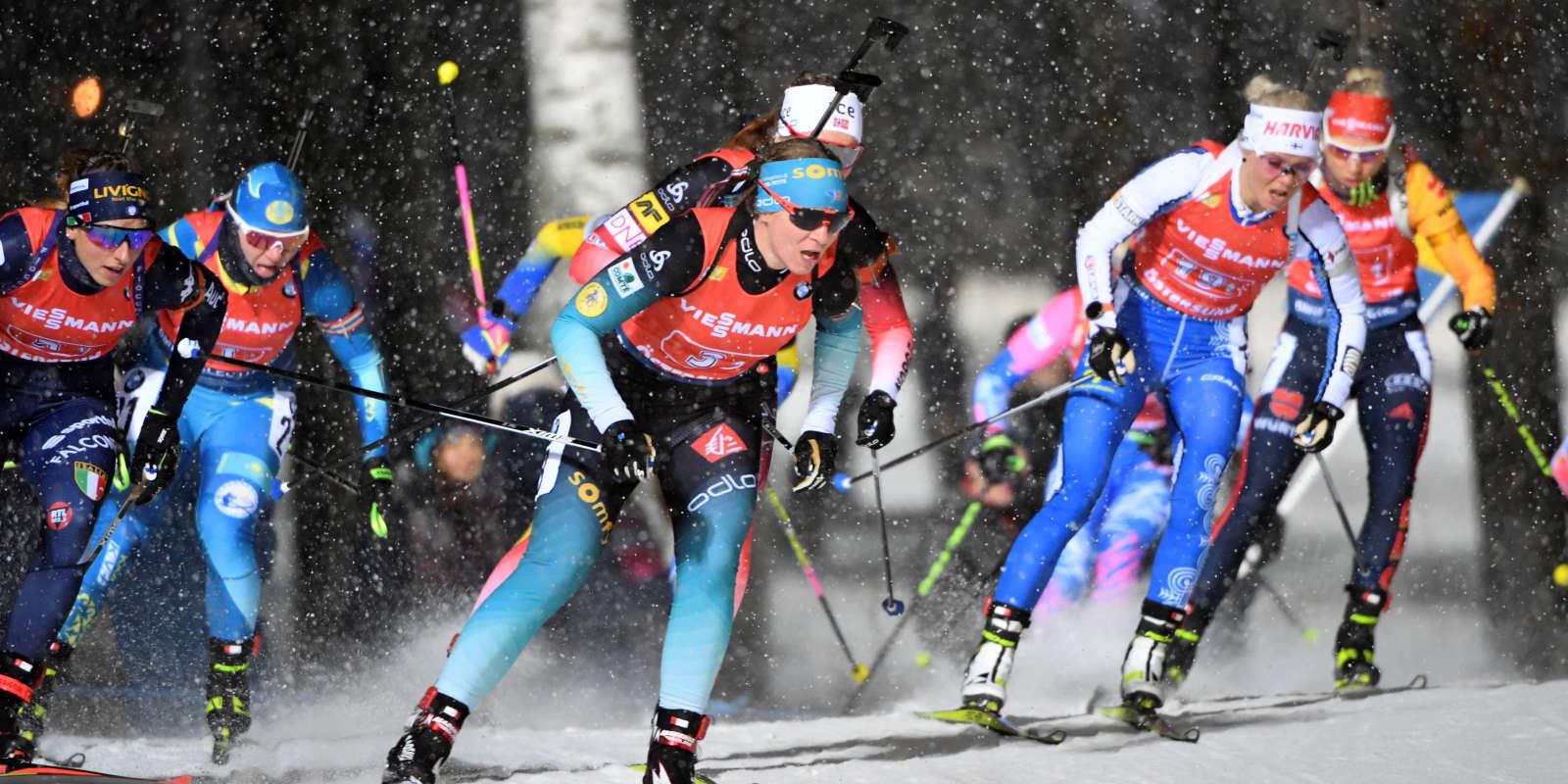 Relais femmes de biathlon.