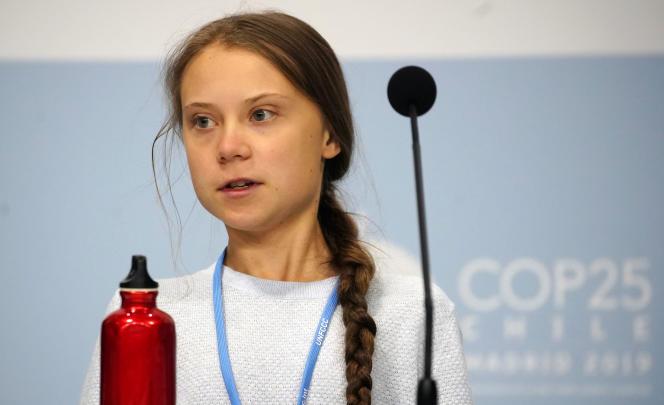 Greta Thunberg lors de la 25e Conférence des parties (COP25) à Madrid, le 9décembre.