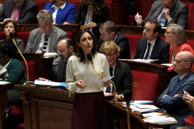 La secrétaire d'Etat auprès du ministre de la transition écologique et solidaire Brune Poirson à l'Assemblée nationale, le 3 décembre à Paris.