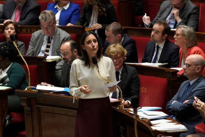 Brune Poirson, secrétaire d'Etat auprès de la ministre de la transition écologique et solidaire, le 3décembre à l'Assemblée nationale.