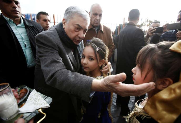 Ali Benflis, candidat à la présidentielle algérienne, le 23 novembre à Médéa.