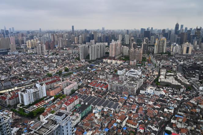 Des quartiers résidentiels de Shanghaï, en mai.
