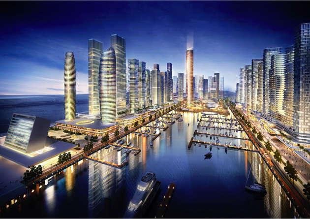 Le projet d'aménagement urbainEko Atlantic, à Lagos, la capitale économique du Nigeria.
