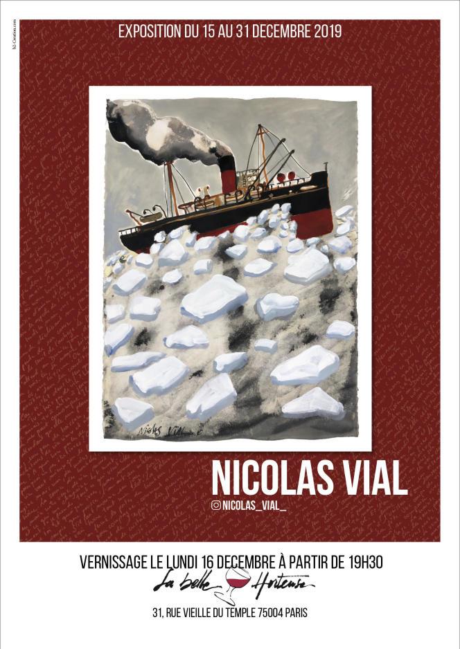 Affiche de l'exposition de Nicolas Vial à La Belle Hortense.
