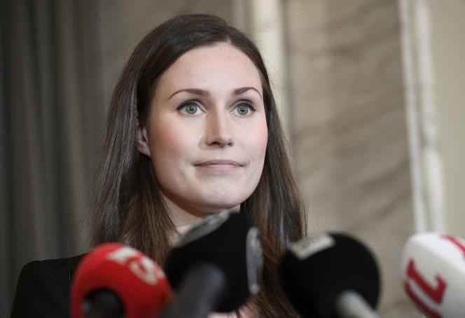Sanna Marin, après son accession au poste de premier ministre de Finlande le 10 décembre 2019.