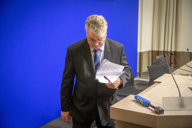 Jean-Paul Delevoye, haut-commissaire aux retraites, à Paris, le 9 décembre.