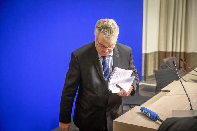 Jean-Paul Delevoye, haut-commissaire aux retraites, lors d'une conférence de presse au ministère de la santé, à Paris, le 9décembre.