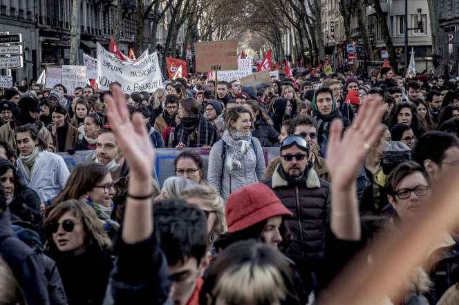 Manifestation contre la réforme des retraites, à Lyon, le 10 décembre 2019