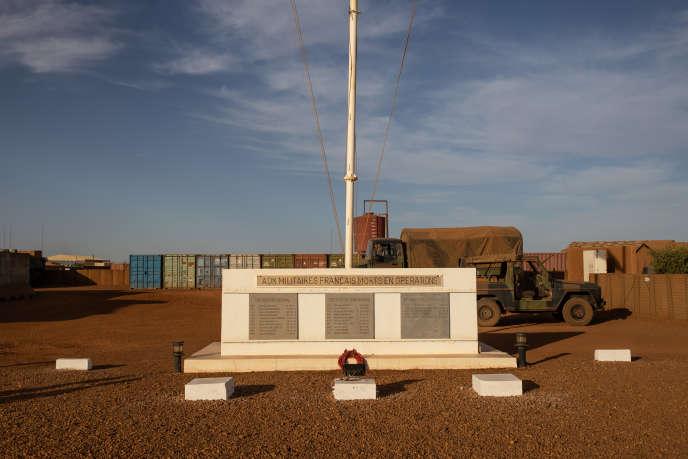 Base militaire française de Gao, au Mali, le 1er décembre 2019.