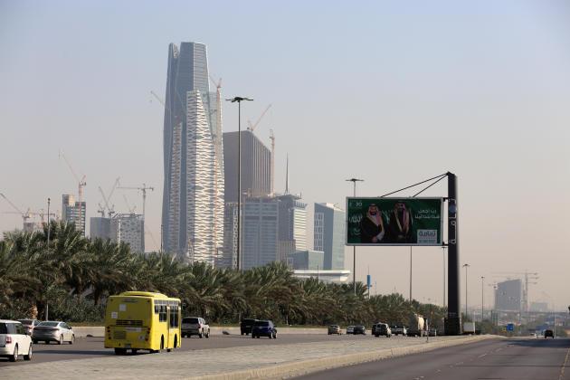Dans le district financier King Abdullah, à Riyad (Arabie saoudite), en décembre 2018.