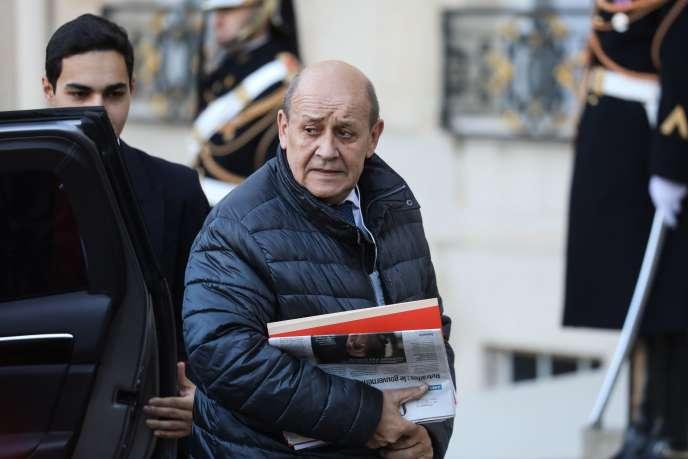 Le ministre français des affaires étrangères, Jean-Yves Le Drian, le 9 décembre à l'Elysée.