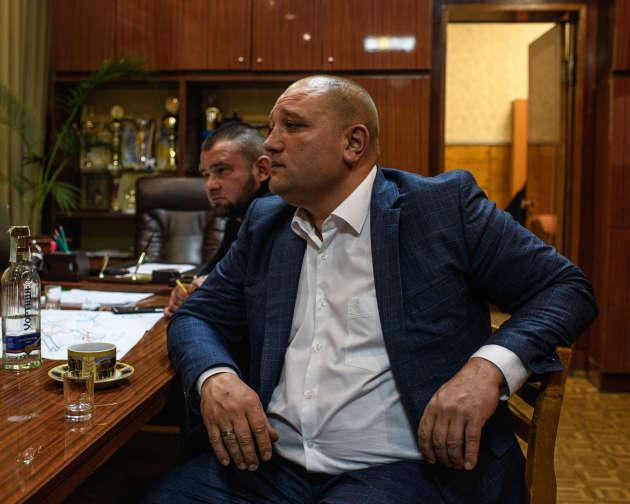 Mikael Grigorovich, directeur de la mine d'Etat Zolote-4, le 20 novembre dans le Donbass, en Ukraine.