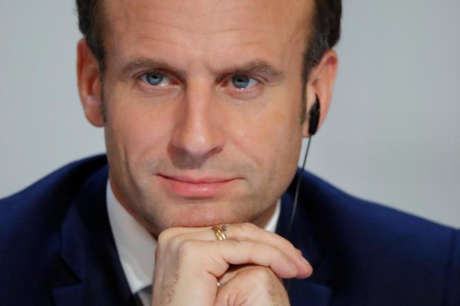 Emmanuel Macron le 9 décembre 2019, à l'Elysée, à Paris.