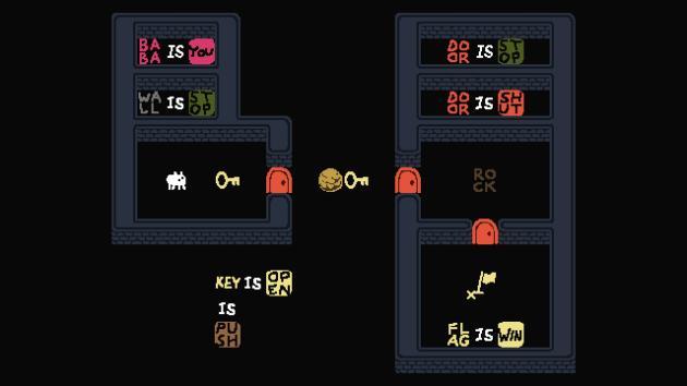 Dans «Baba is You», tous les objets peuvent se transformer en n'importe quel mot présent à l'écran. Une astuce redoutable pour gruger au jeu de l'oie.