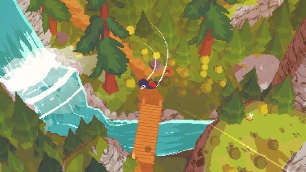 Dans «A Short Hike», l'oiseau Claire collecte des plumes dorées pour escalader une petite montagne. Il s'envole de plusieurs places.