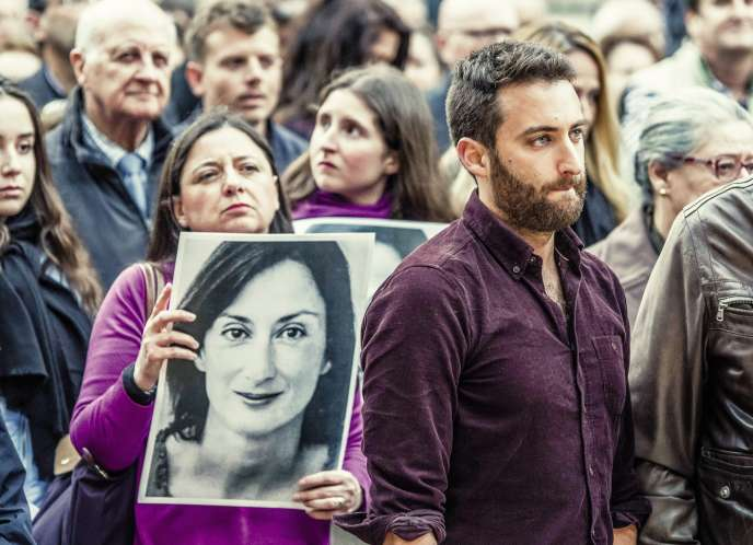 Matthew Caruana Galizia, lors d'une manifestation à La Valette, à Malte, le 16mai.