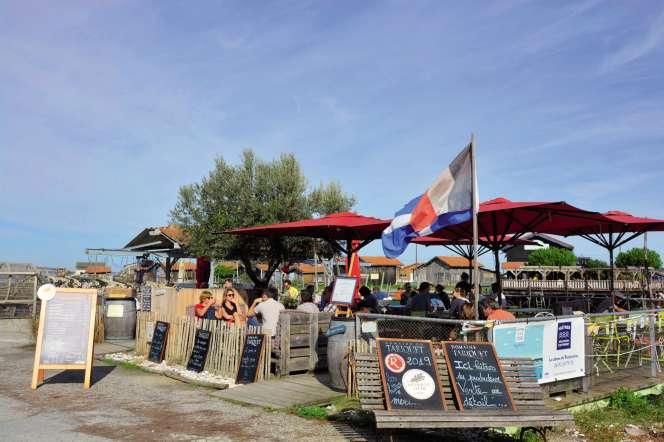 La cabane de dégustationLe Routioutiou, à Gujan-Mestras (Gironde).