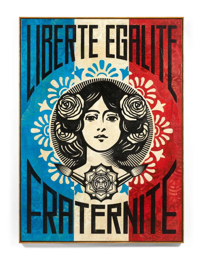 « Liberté Egalité, Fraternité», deShepard Fairey, alias Obey