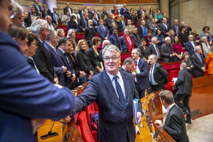 Jean-Paul Delevoye, au Conseil économique, social et environnemental à Paris, mercredi 11 décembre.