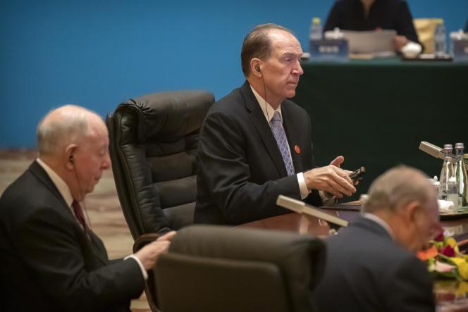 Le patron de la Banque mondiale, David Malpass, à Pékin, le 21 novembre.