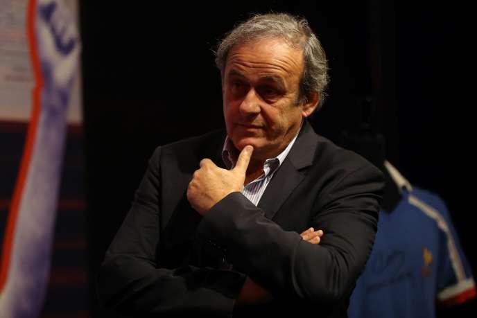 Michel Platini, lors de la remise des Légendes du sport, le 22novembre2019, à Nice.