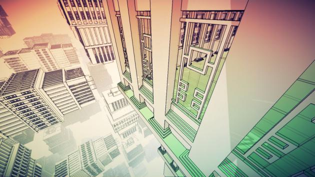 Dans «Manifold Garden», les niveaux existent à l'infini, et on peut tomber de l'un pour atterrir sur le même. C'est compliqué, mais pratique pour revenir sur le plateau.
