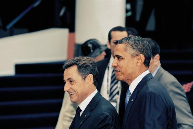 Nicolas Sarkozy et Barack Obama, à Cannes, en 2011, lors d'un sommet du G20.