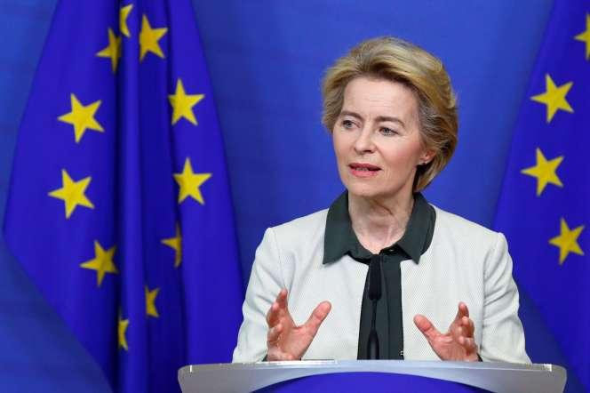 La présidente de la Commission européenne, Ursula von der Leyen, lors de son discours à Bruxelles, mercredi 11décembre.