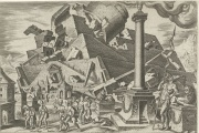 « La Destruction de la tour de Babel », gravure de Philip Galle (1590).