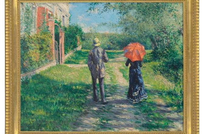 «Chemin montant» (1881), de Caillebotte.