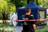 A Berlin, sur les lieux de l'assassinat du Géorgien Zelimkhan Khangochvili, le 23 août.