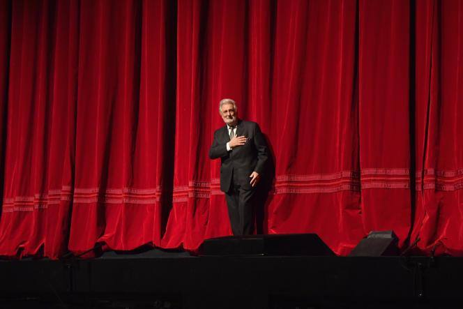 Placido Domingo au Metropolitan Opera de New York, le 23 novembre 2018.