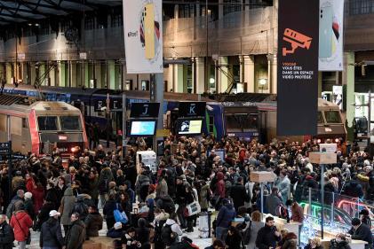 Gare de Lyon à Paris, jeudi 12 décembre.