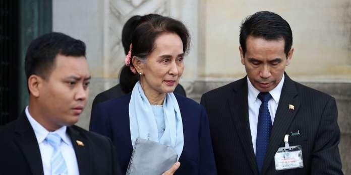 Aung San Suu Kyi en avocate de la Birmanie accusée de génocide