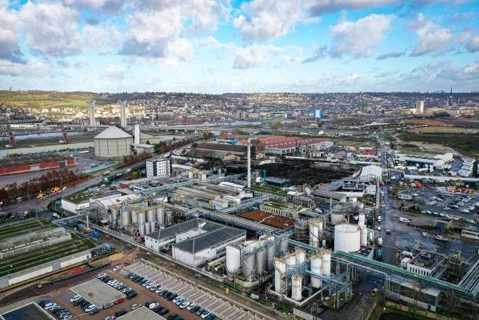 La zone industrielle de Rouen où se trouve l'usine de Lubrizol, le 9 décembre 2019.