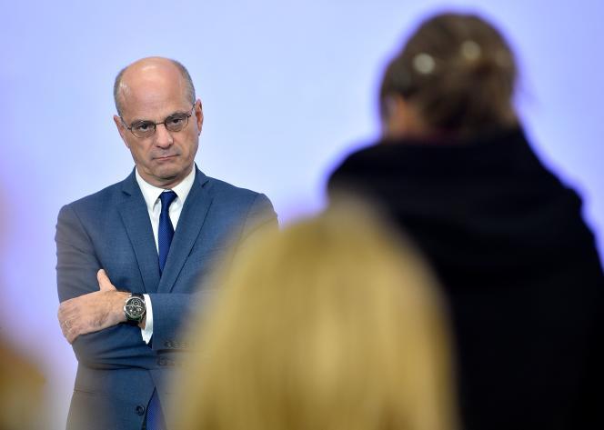 Le 13 décembre 2019, le ministre français de l'éducation et de la jeunesse, Jean-Michel Blanquer, à Nancy.