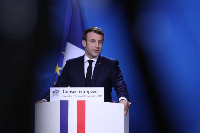 Le président français, Emmanuel Macron, lors d'une conférence de presse à Bruxelles, le 13décembre 2019.