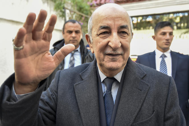 L'ancien premier ministre Abdelmadjid Tebboune lors de la campagne électorale, à Alger, le 24novembre 2019.