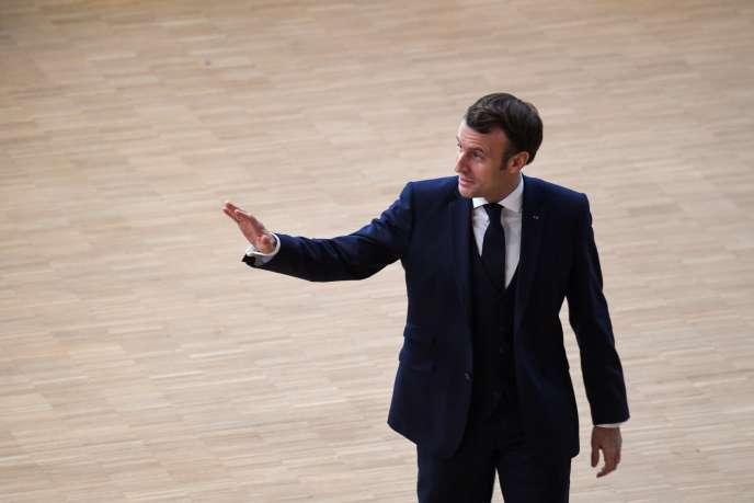 Le président français Emmanuel Macron à Bruxelles, le 12 décembre 2019.