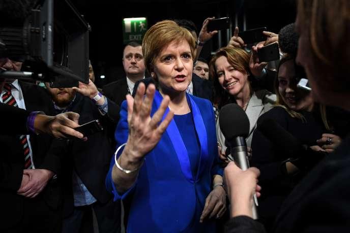 La première ministre écossaise et dirigeante du parti indépendantiste SNP, Nicola Sturgeon, à Glasgow, le 13 décembre.