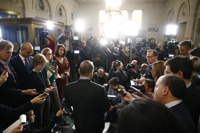 Jerrold Nadler, président de la commission des affaires judiciaires de la Chambre des représentants, à la sortie du vote validant les deux articles de la procédure d'«impeachment» contre Donald Trump, à Washington, vendredi13décembre.