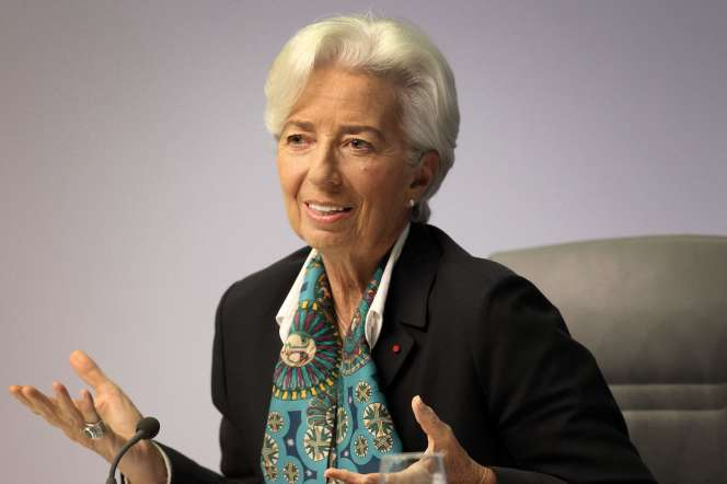 Christine Lagarde, lors de sa première conférence de presse en tant que présidente de la BCE, à Francfort, le 12 décembre.