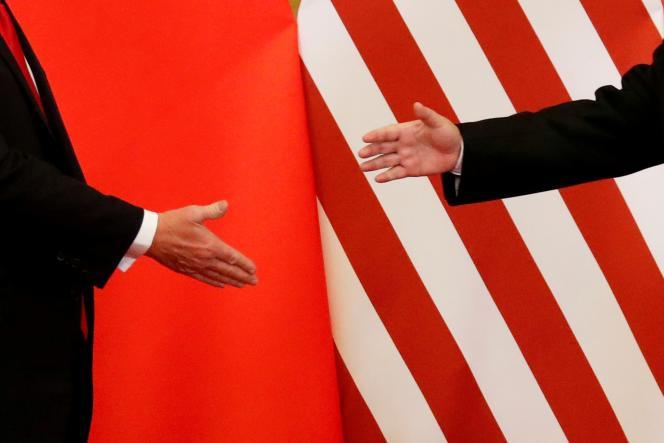 Donald Trump et Xi Jinping, à Pékin, le 9novembre2017.