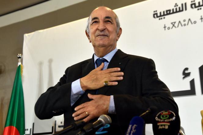 Le nouveau président de l'Algérie, Abdelmadjid Tebboune, le 13 décembre à Alger.