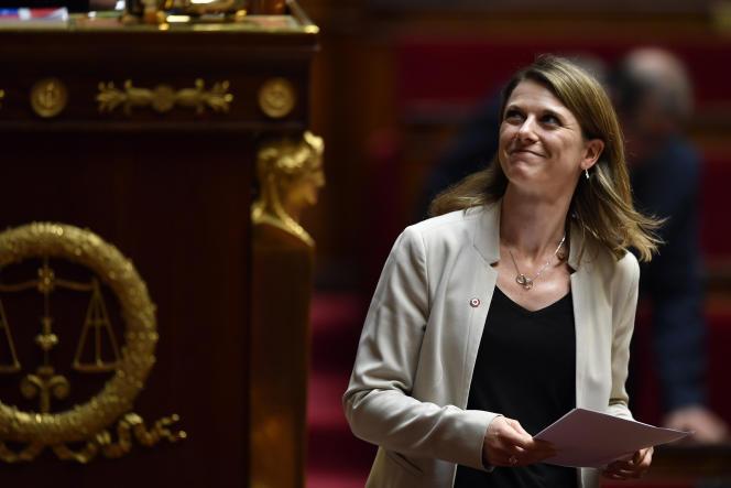 La députée LRM Laurianne Rossi, à l'Assemblée nationale, en avril 2018.