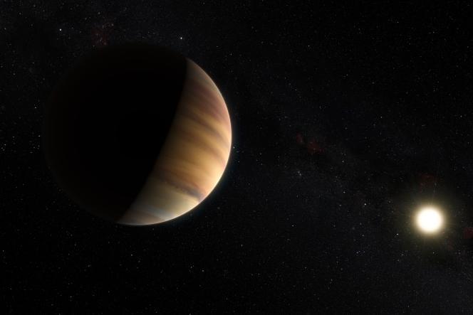 Vue d'artiste de l'exoplanet «51 Peg».