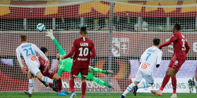 Football: rude soirée pour Marseille, stoppée dans son élan par Metz